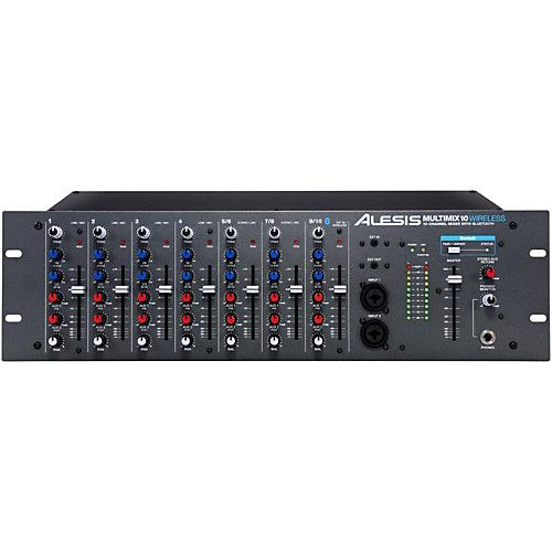 Alesis Multimix 10 Wireless 10 Channel Rackmount Mixer With