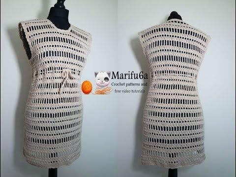 4df8ab3e7 How to crochet sweater pullover tunic dress tutorial pattern by ...