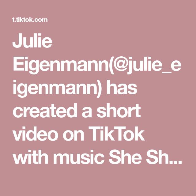 Julie Eigenmann Julie Eigenmann Has Created A Short Video On Tiktok With Music She Share Story For Vlog Link In Bio For Some Similar I Video Pilot Allah