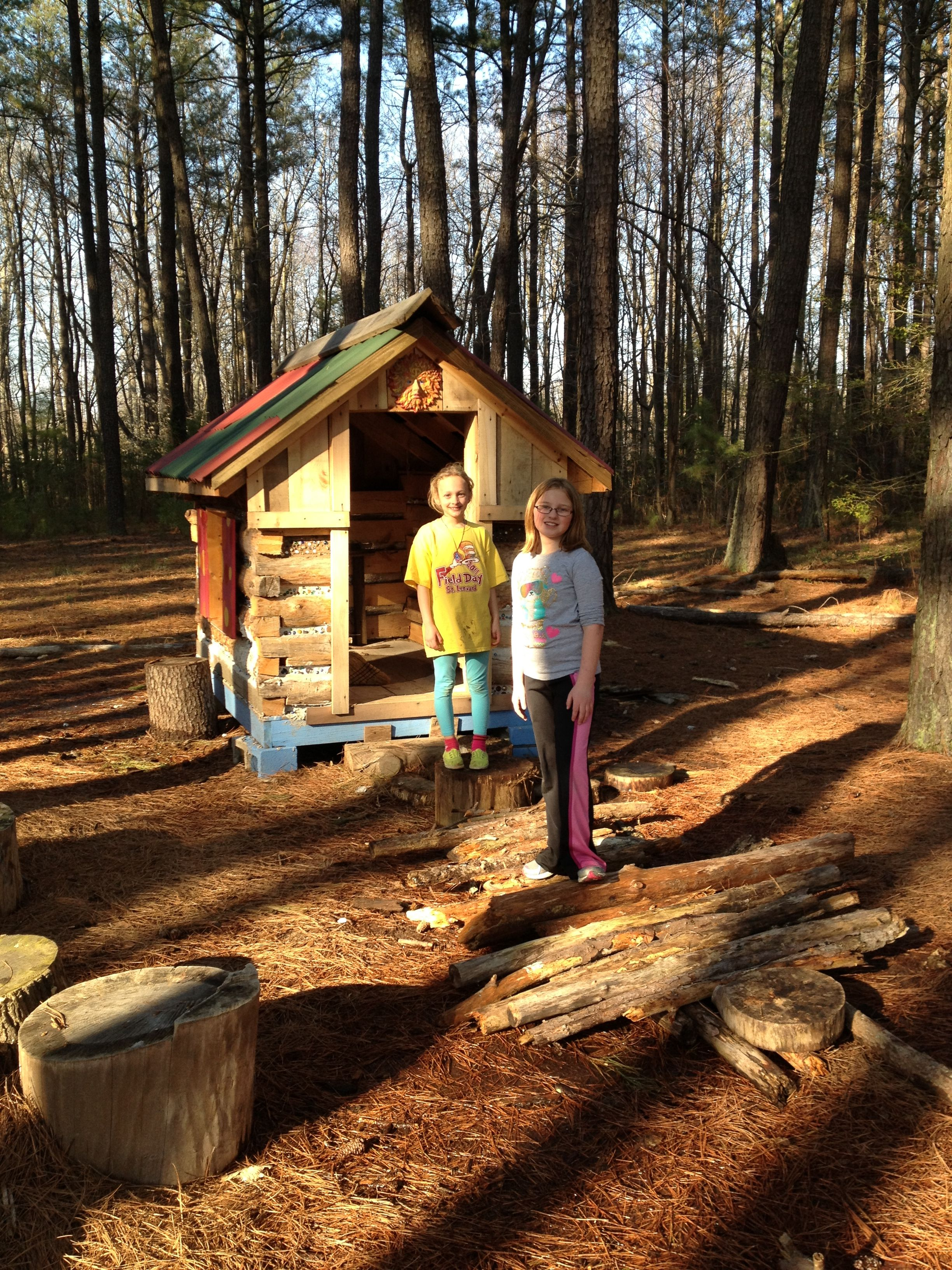 One of several playhouses built by our middle school summer campers ...