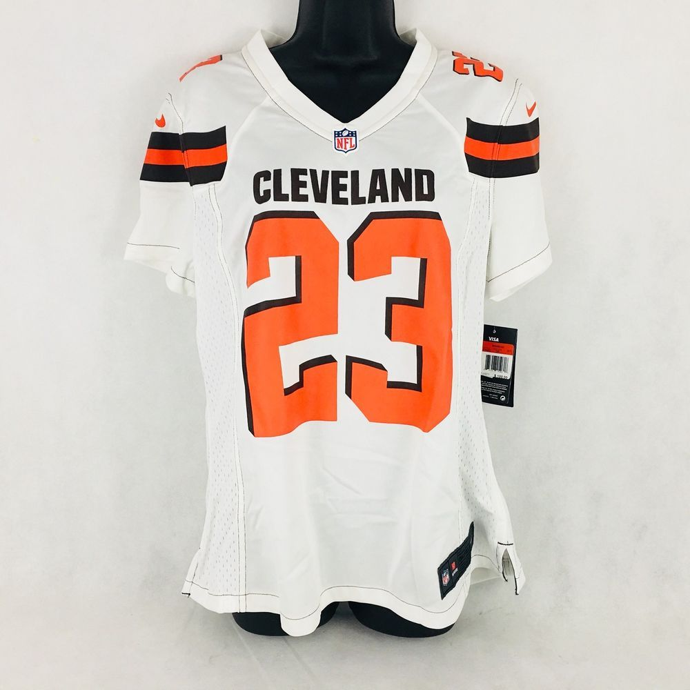 262f12431 Nike NFL On Field Cleveland Browns Haden  23 Jersey Women s Large 100  MSRP  (
