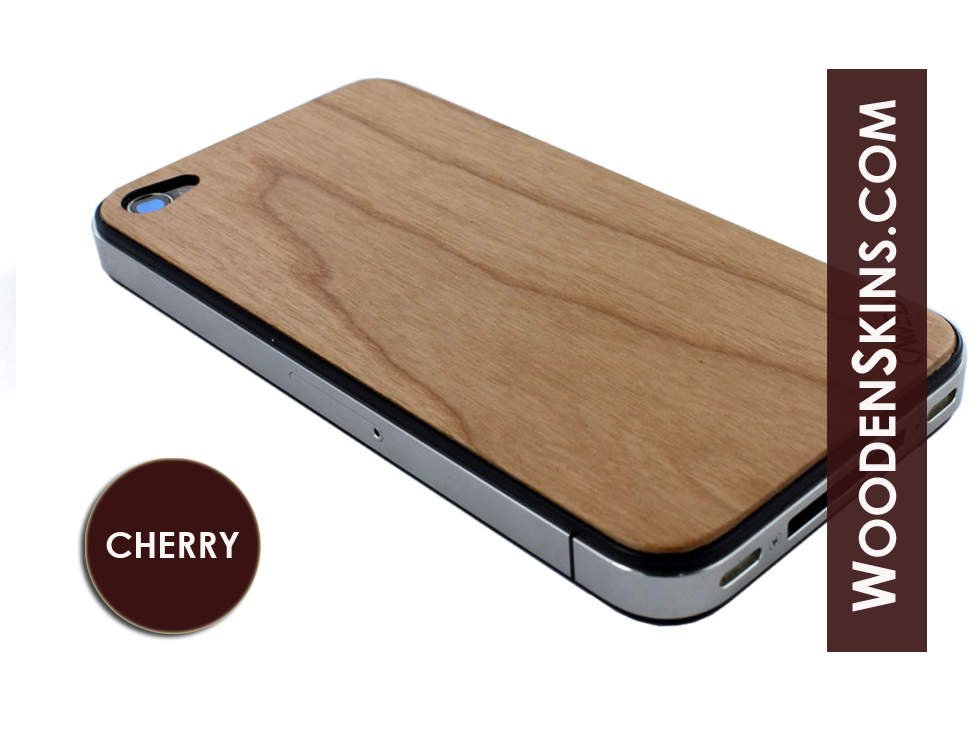 Wood iPhone Cover (Front/Back skin): Cherry