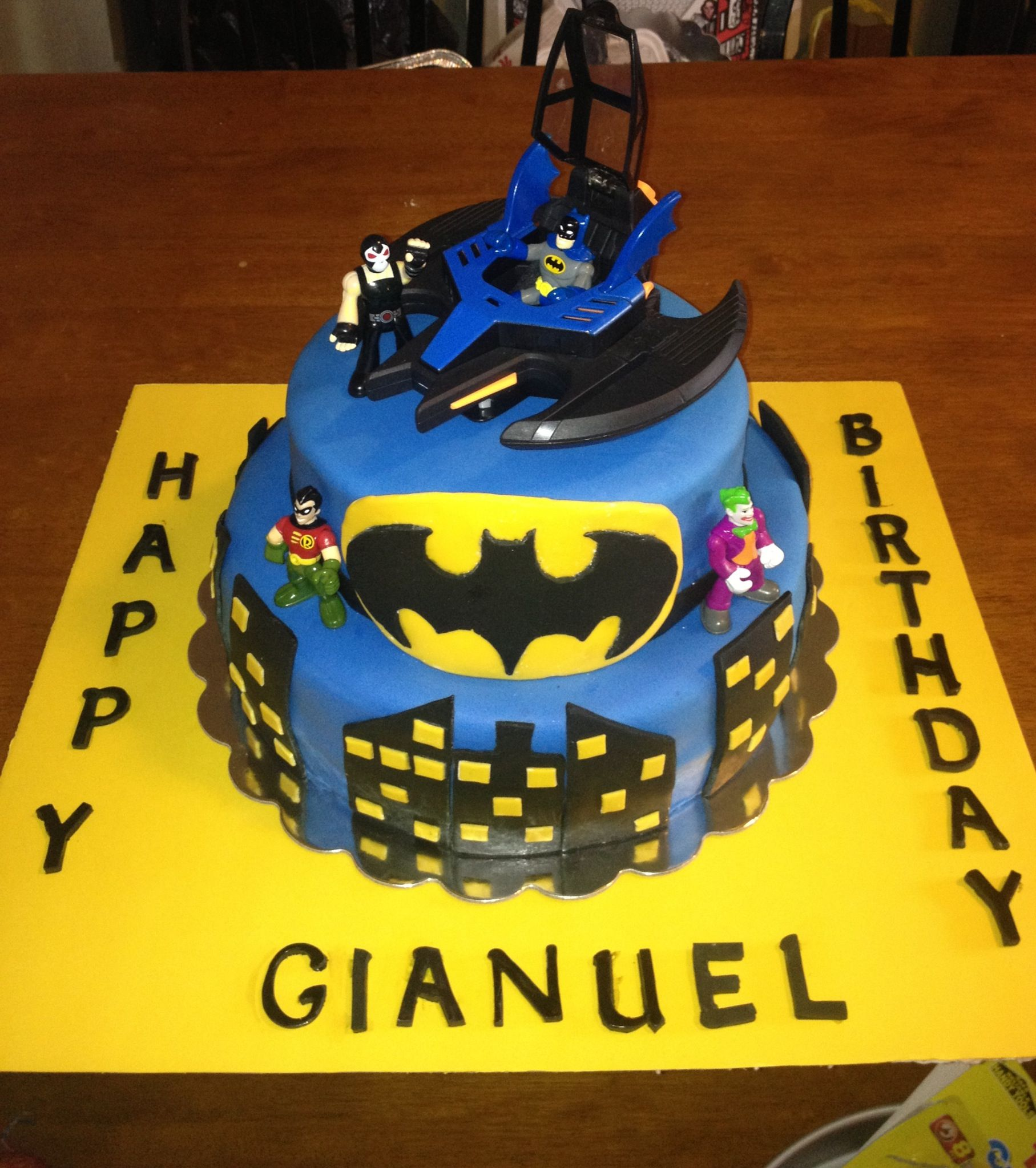 Birthday cake my daughter and I made for my grandson  First time working with fondant