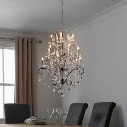 15 Light - Crystal - Chandelier at Homebase -- Be inspired and ...