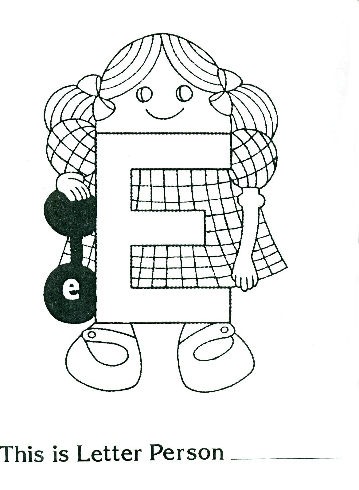 Brilliant Beginnings Preschool Letter Person E