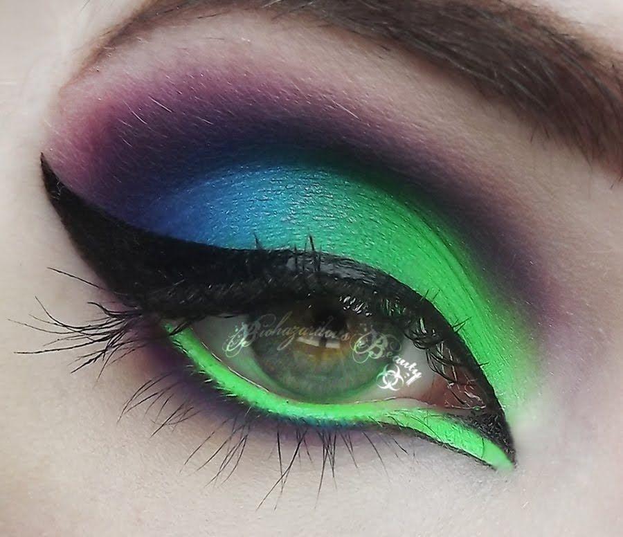 Acid Queen Neon Eyeshadow Tutorial Make Up Pinterest Makeup