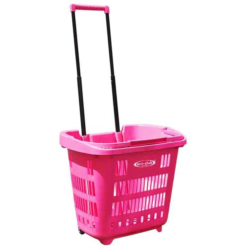 Pink Plastic Laundry Basket Ecoclub Ezroller Shopping Basket Pinkso Perfect For Laundry