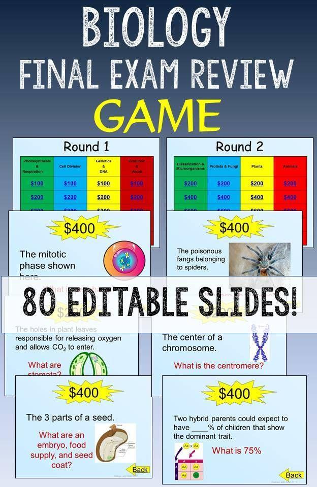 Biology Eoc Or Final Exam Review Game Pinterest Activities