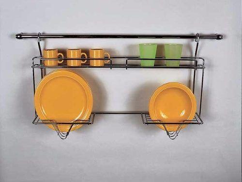 Secaplato escurridor plato metal cromado colgante colgar for Muebles de cocina colgantes