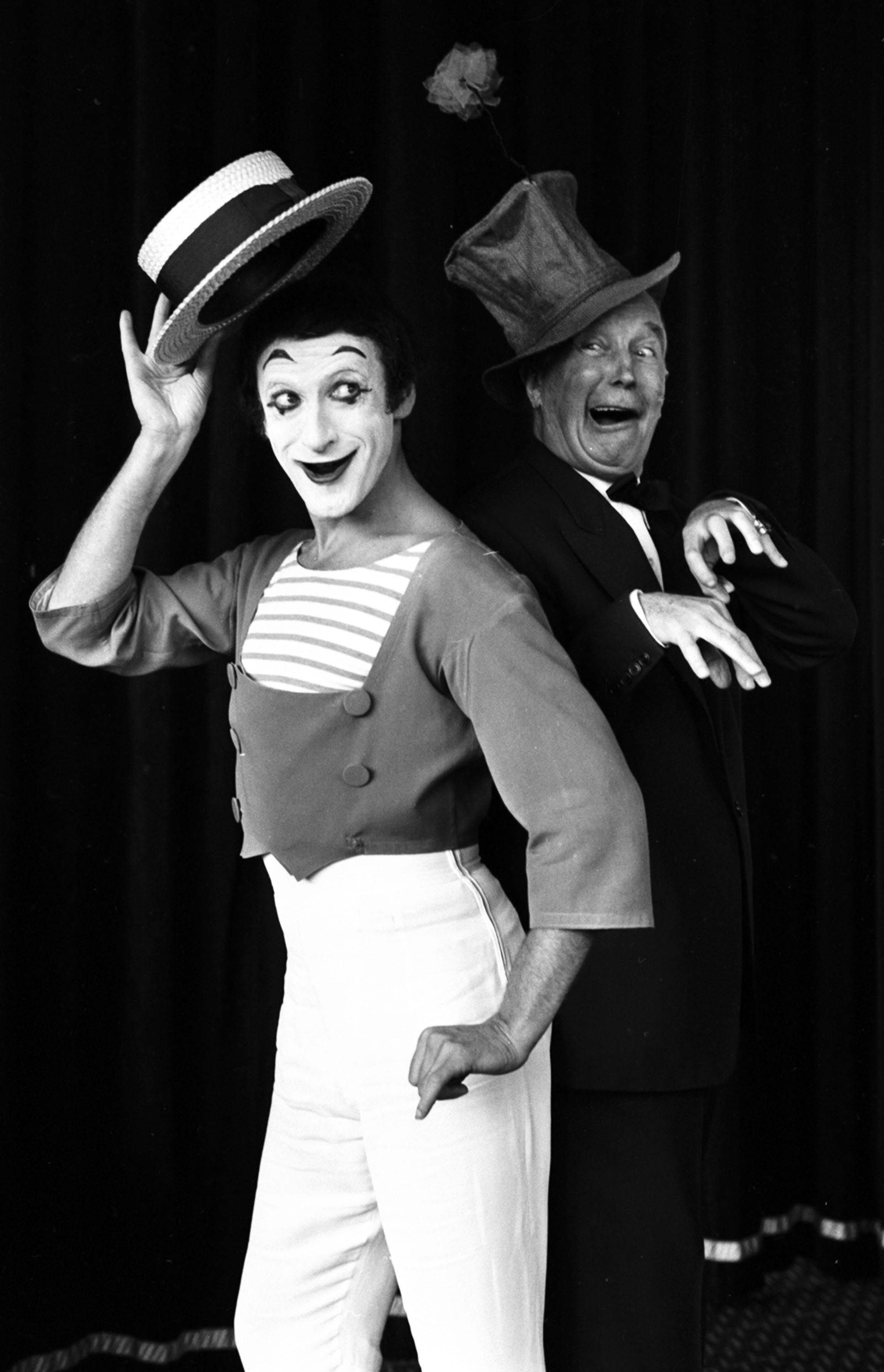 Marcel Marceau and Maurice Chevalier