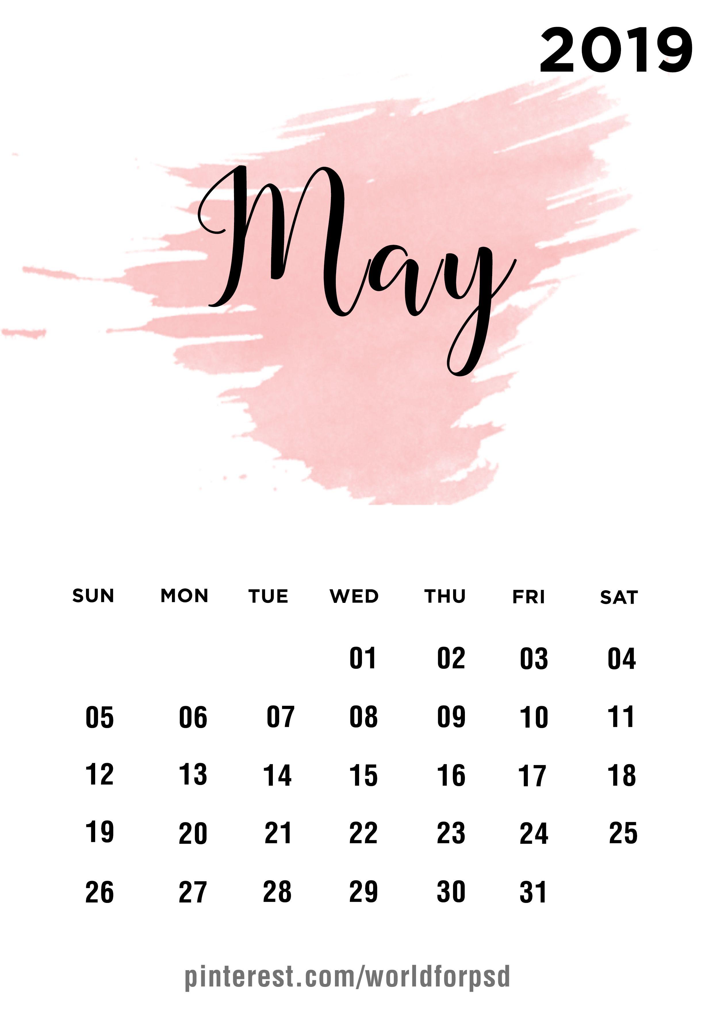 May 2019 Calendar Design Calendar Calendarideas Newyear