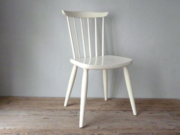 Vintage Stühle vintage stühle 50er stuhl weiß ein designerstück maison