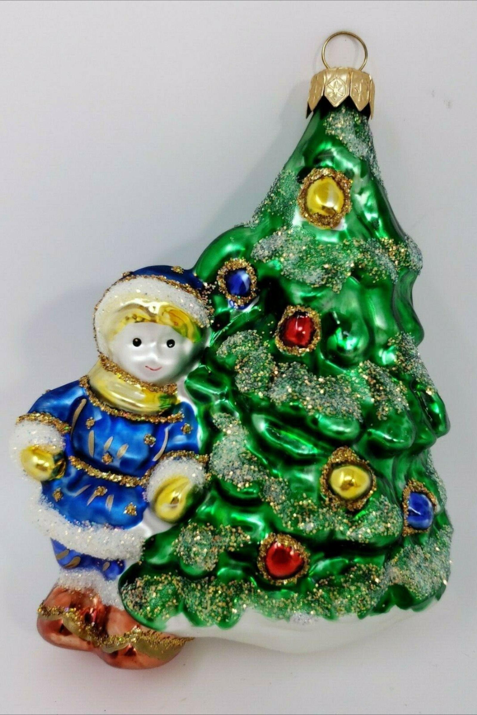5 Vintage Holiday Blown Glass Christmas Tree Ornament Glass Christmas Tree Glass Christmas Tree Ornaments Christmas Tree Ornaments