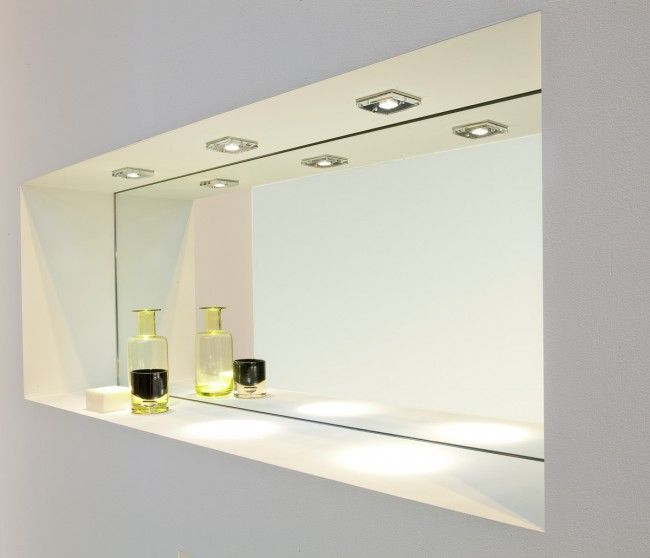 Nische Beleuchtet Mit Einbaustrahler Badezimmerbeleuchtung Badezimmer Licht Helle Badezimmer