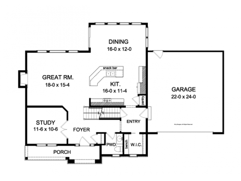 Colonial Style House Plan 3 Beds 2 5 Baths 2226 Sq Ft Plan 1010 83 Colonial House Plans House Plans Colonial Style Homes