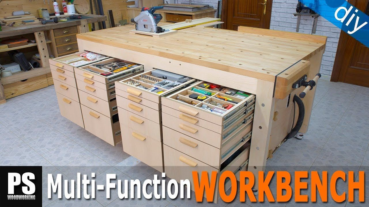 High Capacity Multi Function Workbench Build Part 4 Youtube