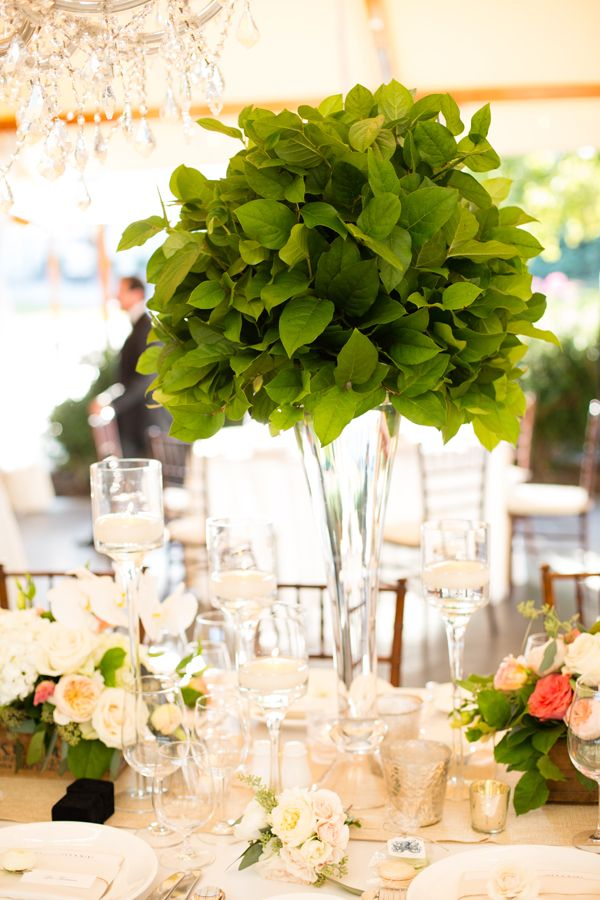 Lush greenery centerpieces greenery centerpiece floral for Decoration fiancaille