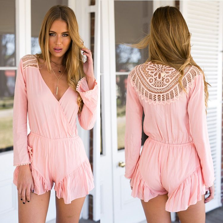 7ccb3fc0022 Hot cute lace romper jumpsuit playsuit | ROMPER Fashion | Lace ...