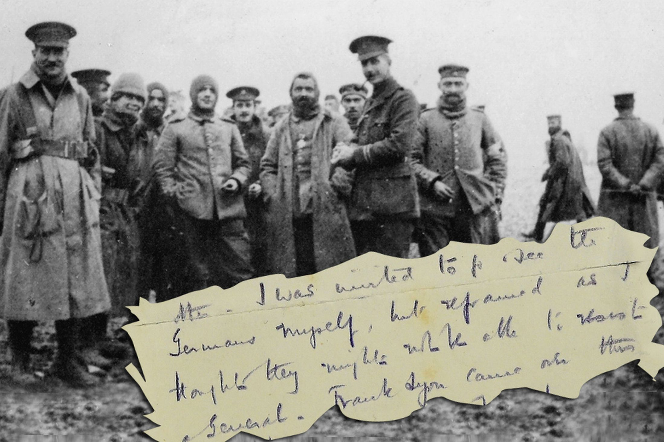 Poignant letter unearthed from World War I Christmas Day truce between British and German ...