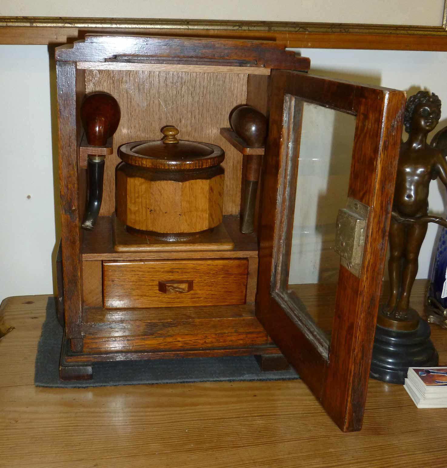 Cool Art Deco Kitchen Cabinets: Delightful 'art Deco Style' Oak Smokers Cabinet, C1920