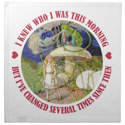 Alice and the Caterpillar in Wonderland Cloth Napkin