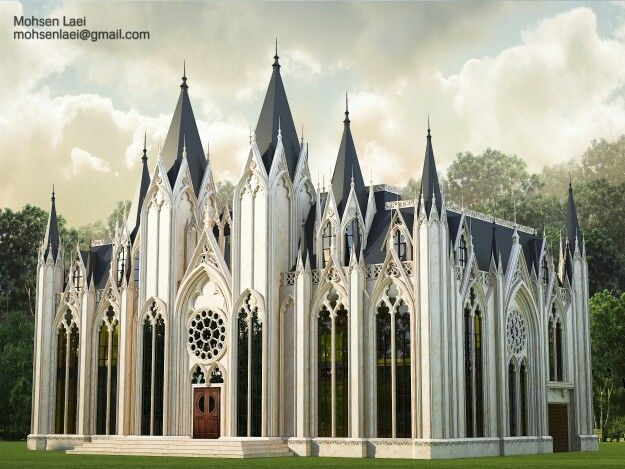 Exterior Design NeoGothic ArchitectureDesigned By Mohsen Laeiin Sokna Tarh Mohsenlaei