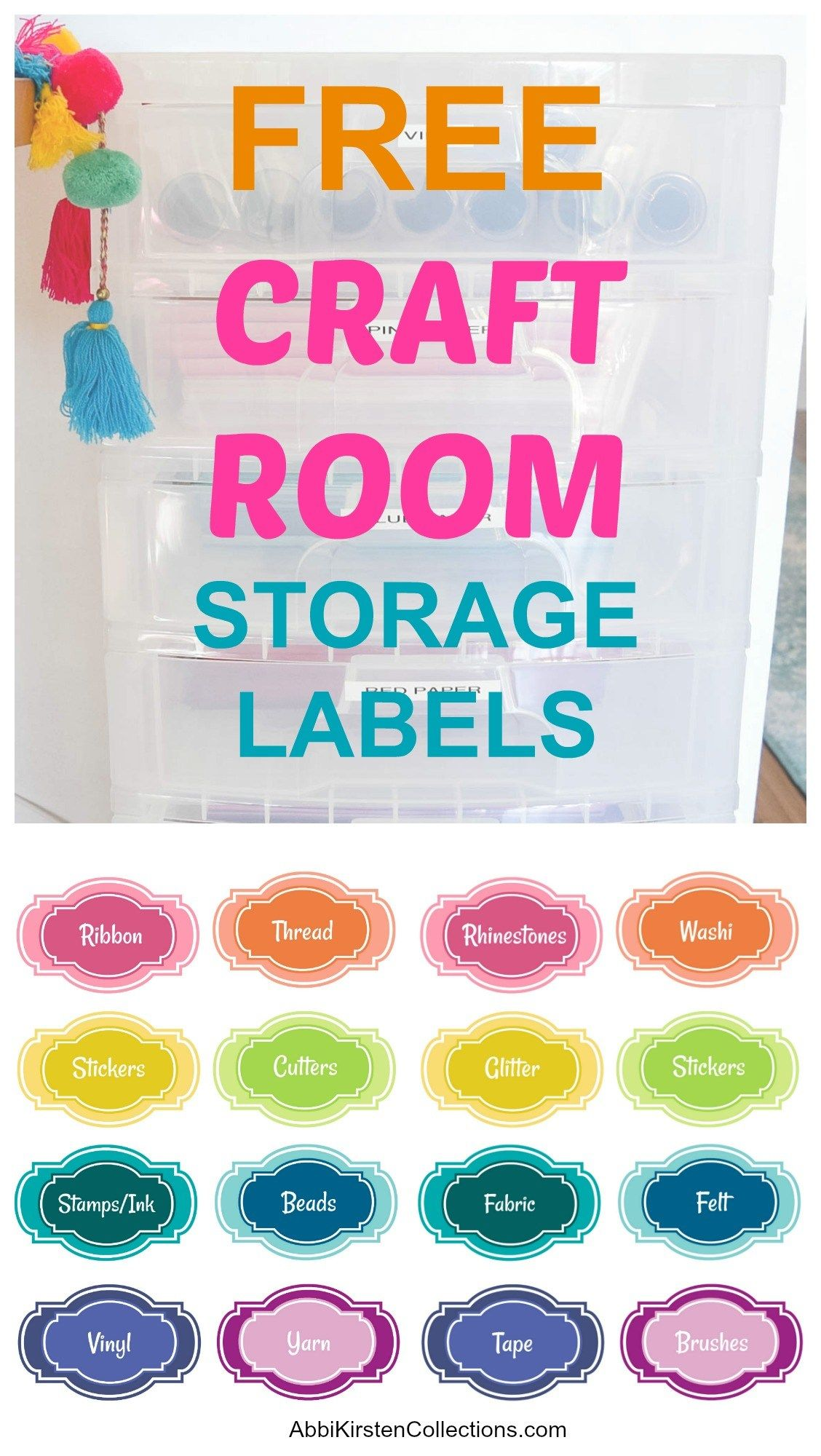 19 Craft Storage Solutions How to Final Organize Your Craft Room! is part of Craft paper storage, Craft storage containers, Craft storage solutions, Craft supply labels, Storage labels, Craft room organization - The best craft storage solutions to finally organize your craft room once and for all  Paper storage, pegboard organization, drawer storage and more!