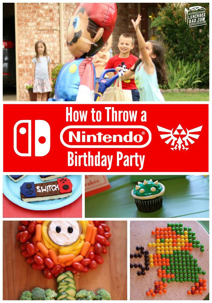 Use these easy Nintendo food, game, and craft ideas to