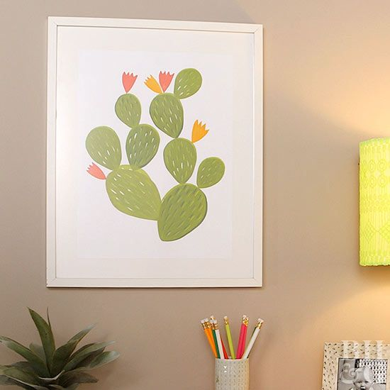 Make your own trendy cactus artwork
