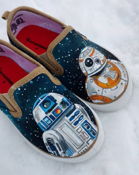 98ddf6a407031 Little Toddler Star Wars Shoes!!! Custom hand-painted by KimJoy Art ...