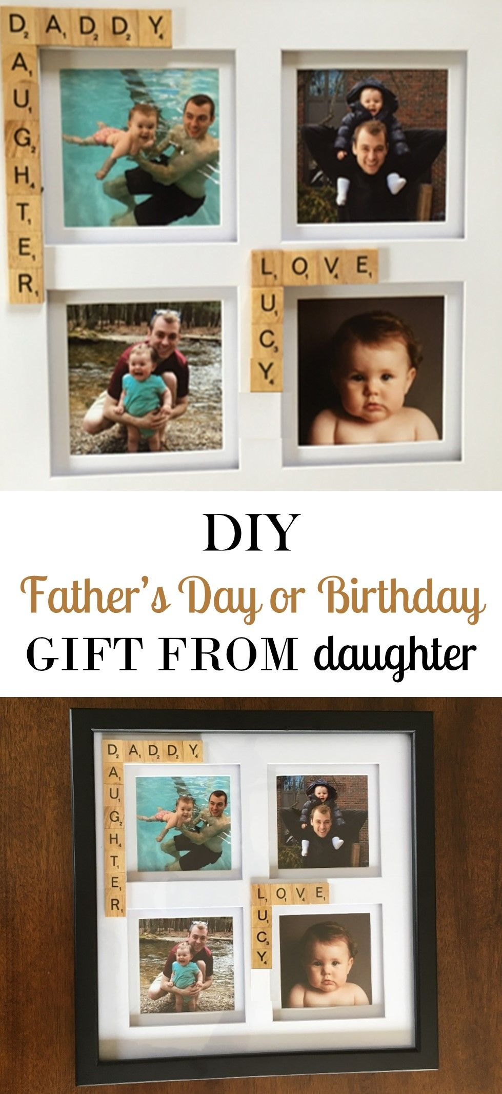 DIY Father\'s Day Gift - Daddy/Daughter Picture Frame | Mom group ...