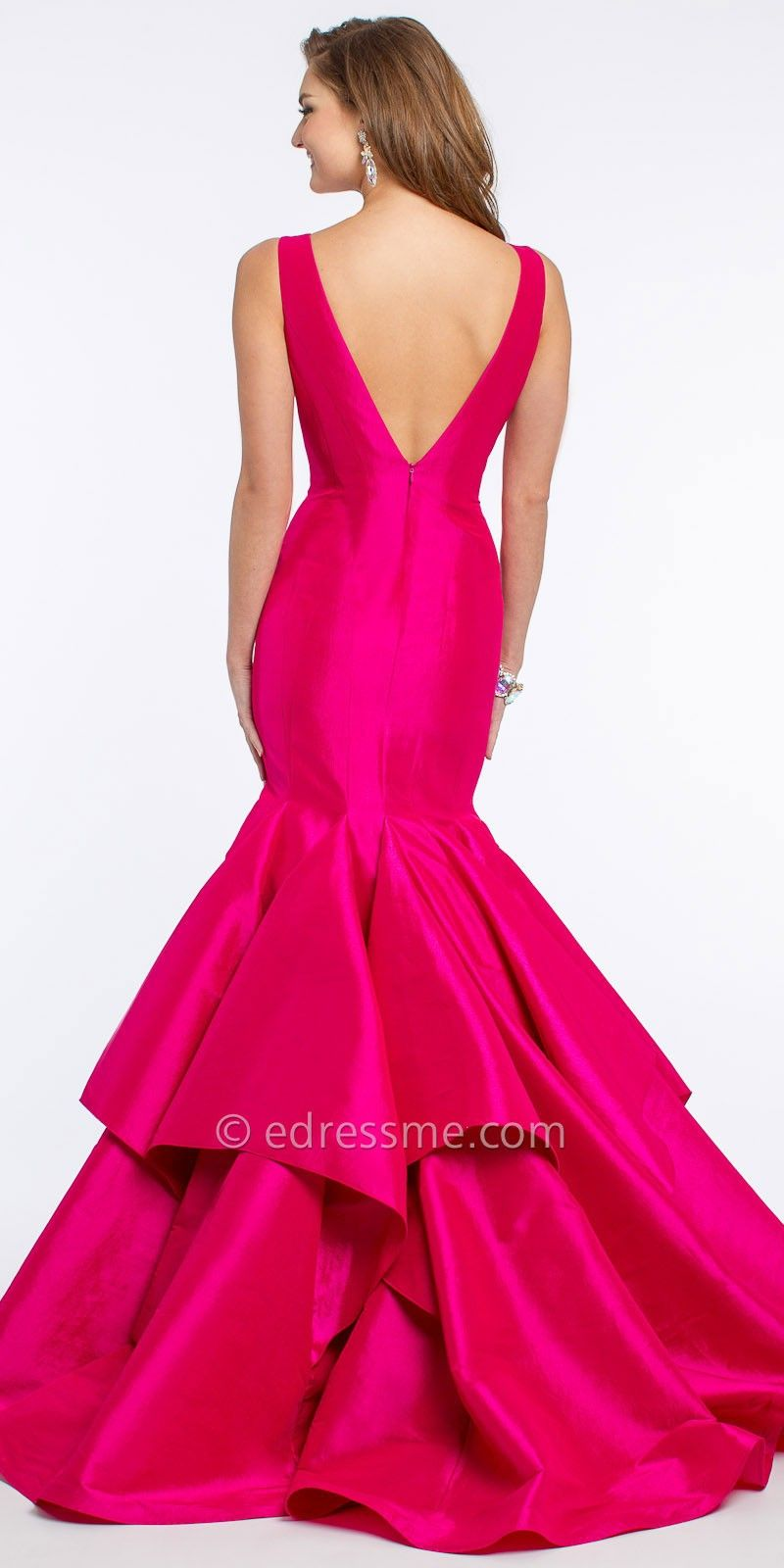 V-Neck Taffeta Mermaid Prom Dress by Jovani | My style | Pinterest ...