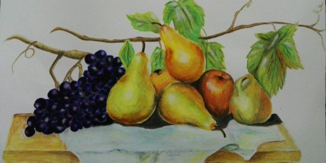 رسم بالالوان المائية Amani Rahhal طفرة جوز Vegetables