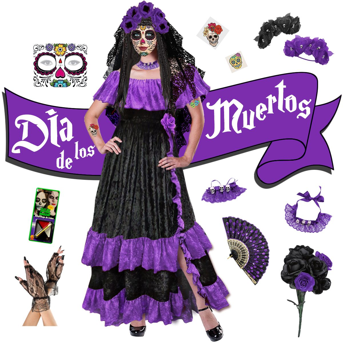 17+ Day of the dead dress information