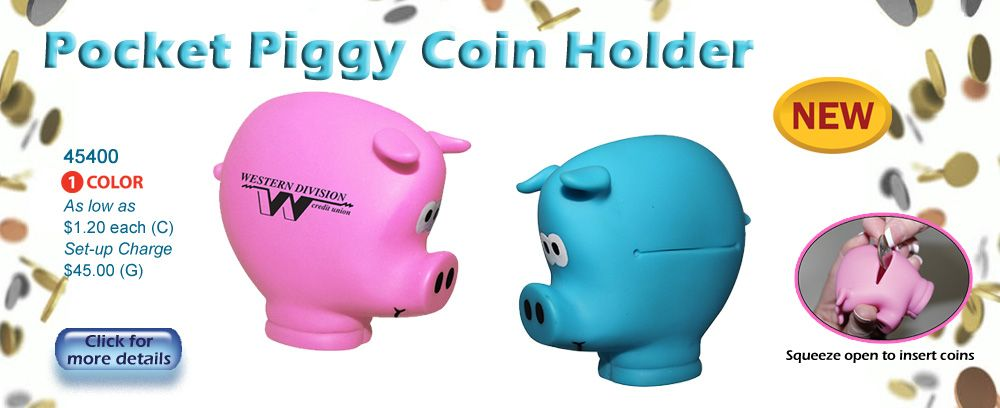 Piggy Banks make a great give a way
