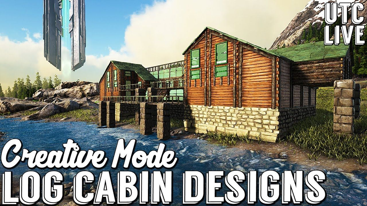 Ark Creative Mode Building Log Cabin Mansion Ark Cabin Building Designs Youtu Ark Survival Evolved Ark Survival Evolved Bases Ark Survival Evolved Tips