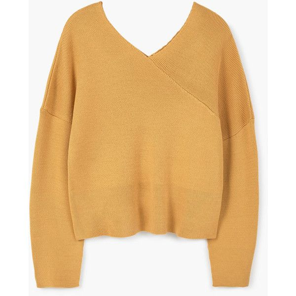 MANGO V-Neck Sweater ($60) ❤ liked on Polyvore featuring tops ...