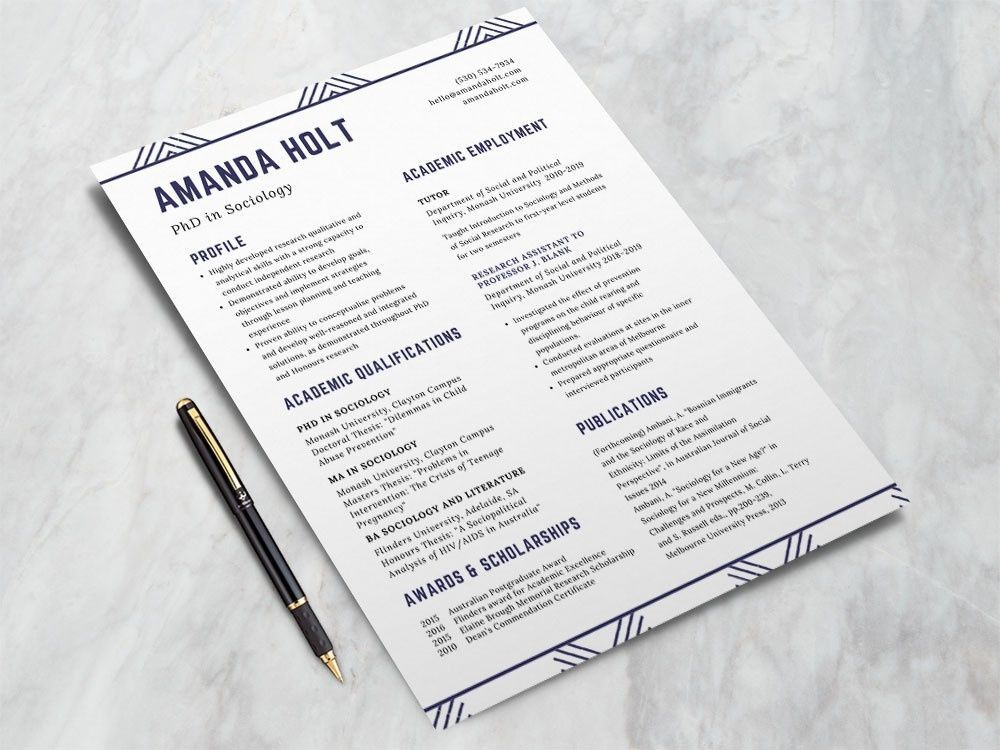 Free Resume Template For Phd Students resume