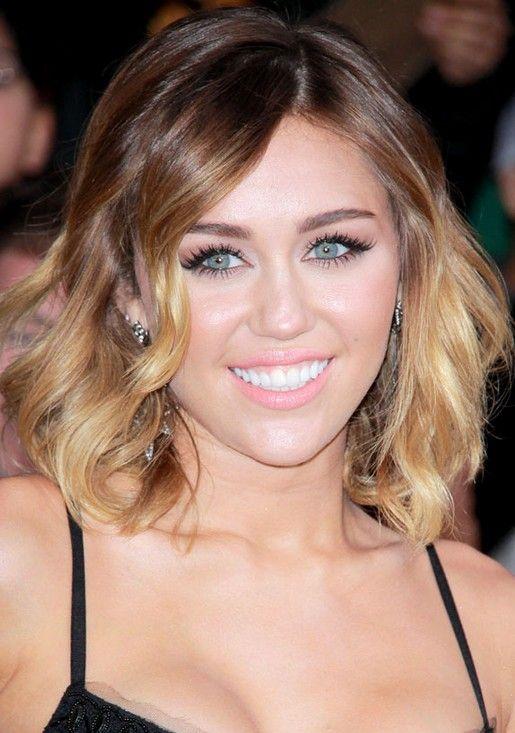 Miley Cyrus Hairstyles Wavy Bob Hairstyles Bob Hairstyles Long Bob Wavy Hair