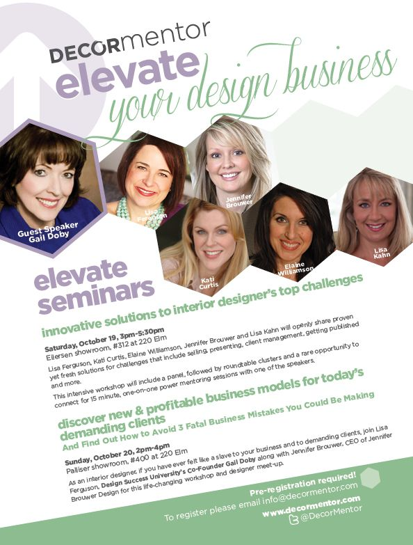Decor Mentor Free ELEVATE Your Interior Design Business Seminars At High Point Market