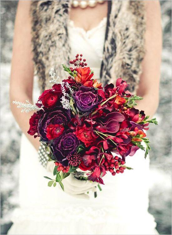 Ramo de novia. Rojo