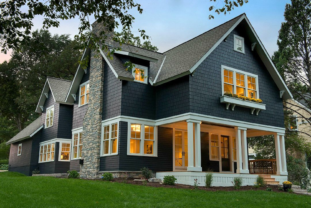 Modern Craftsman House Exterior Blue Cottage Exterior