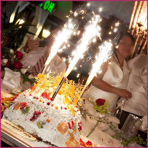 Wedding Cake Sparklers 4 Birthday With Candles Big Ideas