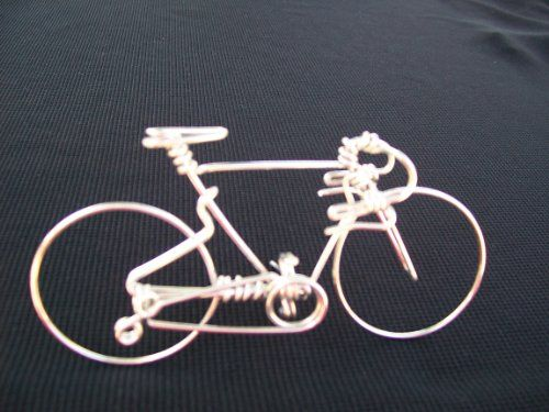Handcrafted Mens Road Bike Small Unique Biking Birthday Gifts for Cyclists as Cake Toppers One Whole Aluminum Wire w No Single Break Metal Vintage Bicycle ...