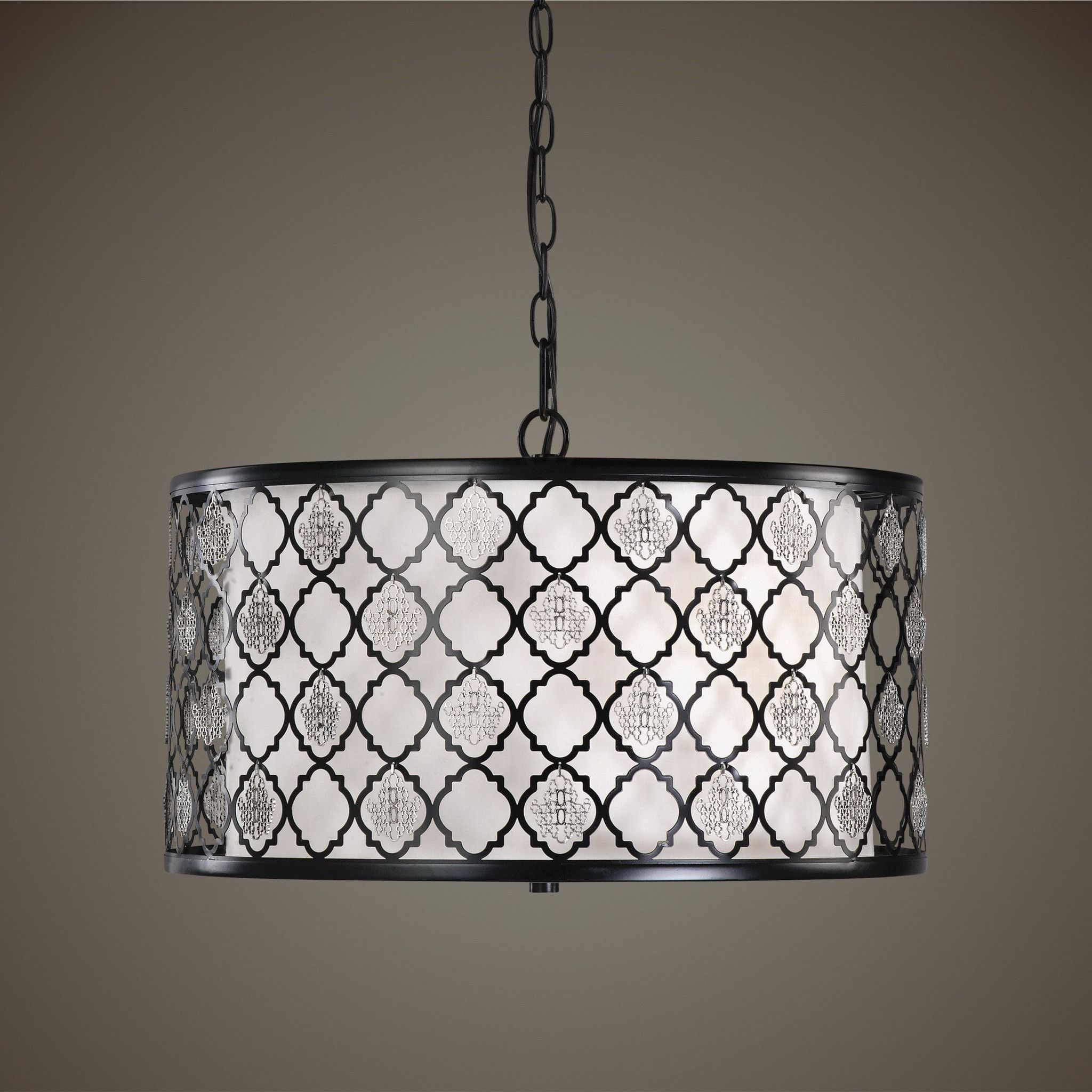 Filigree light drum pendant pendants changue and lights