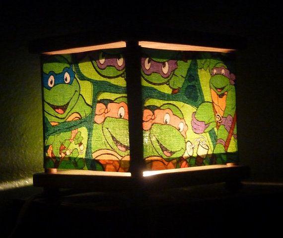 Charming Ninja Turtles Night Light Lamp Lighting By Babymamma1 On Etsy