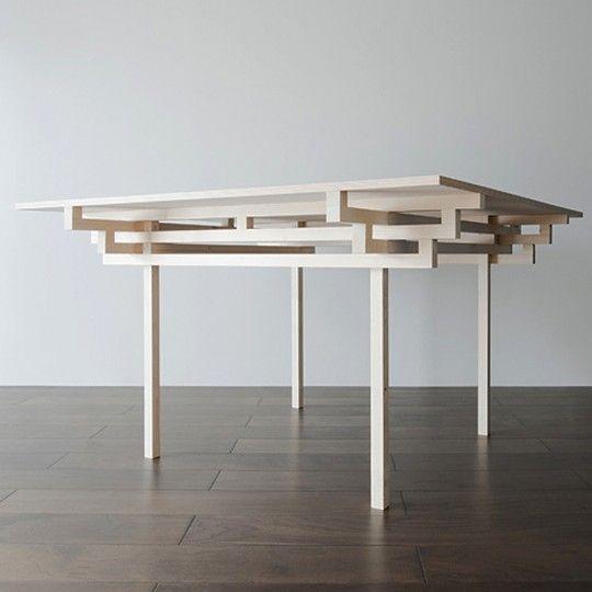 Anese Styled Slim Table By Hiroyuki Tanaka