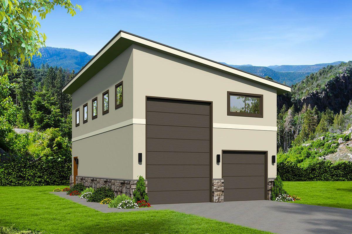 Rv garage plan with vault in 2020 garage door design