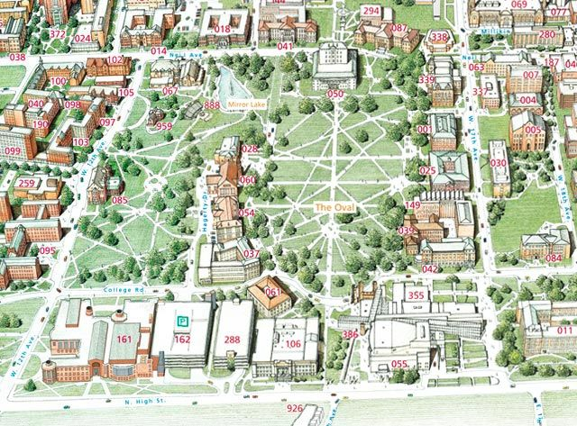 Campus Map   The Ohio State University   my Alma Mater. Worked at