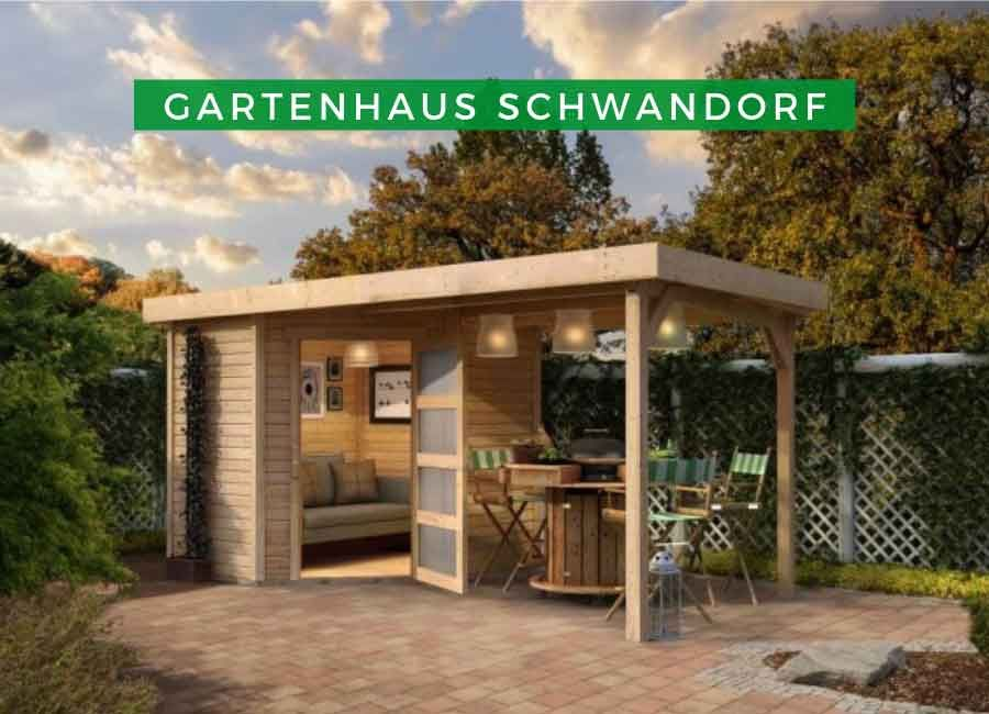 Gartenhaus Karibu Woodfeeling Schwandorf 3 im Set mit